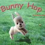 Bunny Hop cover color image- clay and photo - photoshop collage